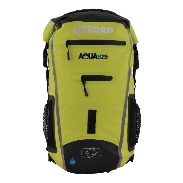 Oxford Aqua B-25 Backpack - Black/Fluo