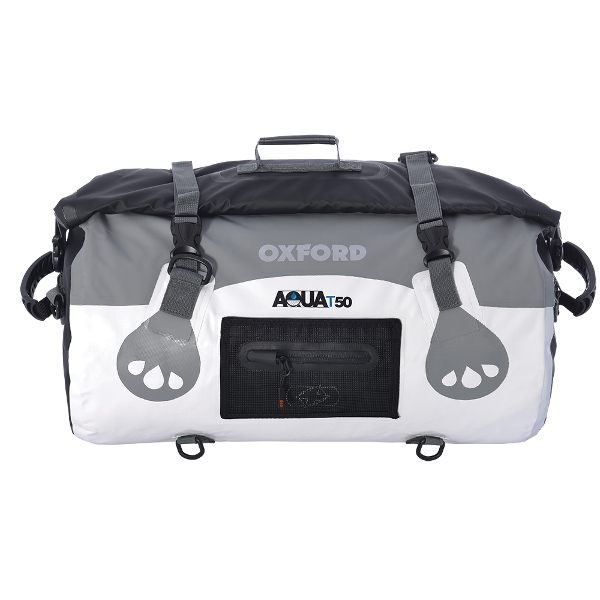 Oxford Aqua T-50 Roll Bag - White/Grey