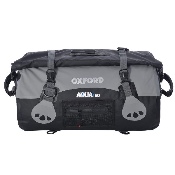 Oxford Aqua T-50 Roll Bag - Black/Grey