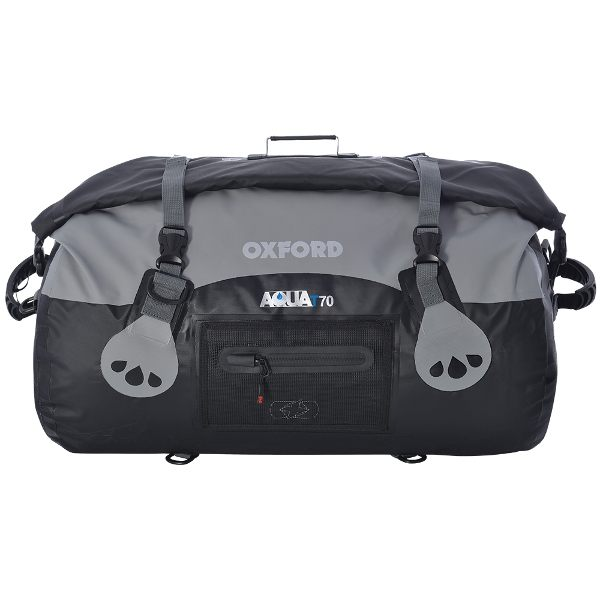Oxford Aqua T-70 Roll Bag - Black/Grey