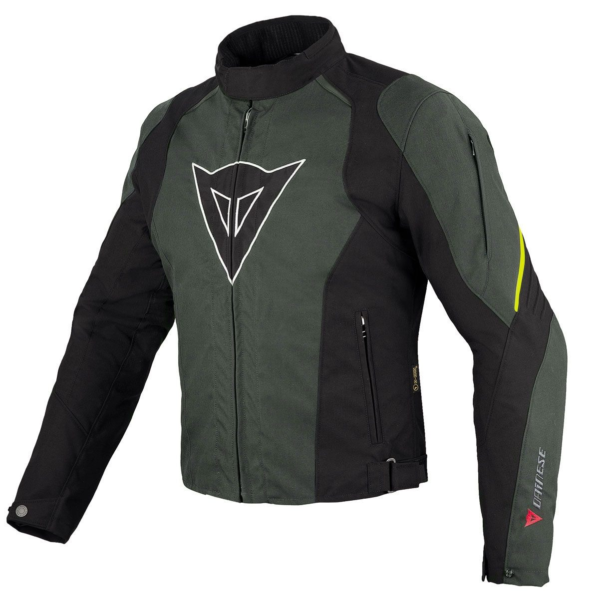 Dainese Laguna Seca D-Dry Jacket - Black/Grey/Yellow