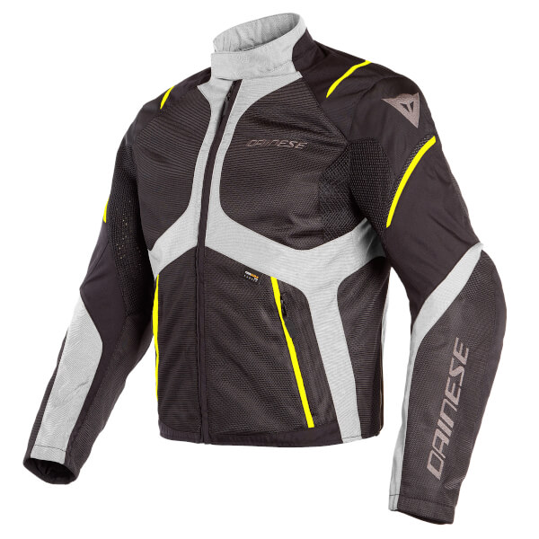 * Dainese Sauris D-Dry Jacket - Black/Quarry/Fluo Yellow