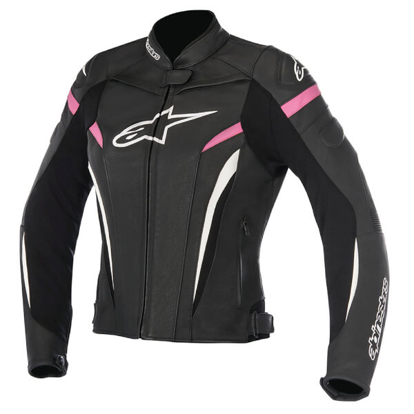 * Alpinestars GP Plus R V2 Leather Ladies Jacket - Black/Fuchsia