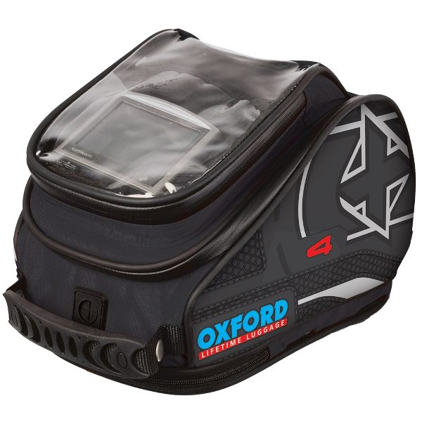 Oxford X4 QR Tank N Tailer Bag - Black