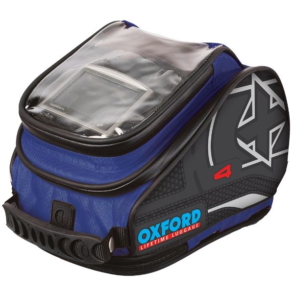 Oxford X4 QR Tank N Tailer Bag - Blue