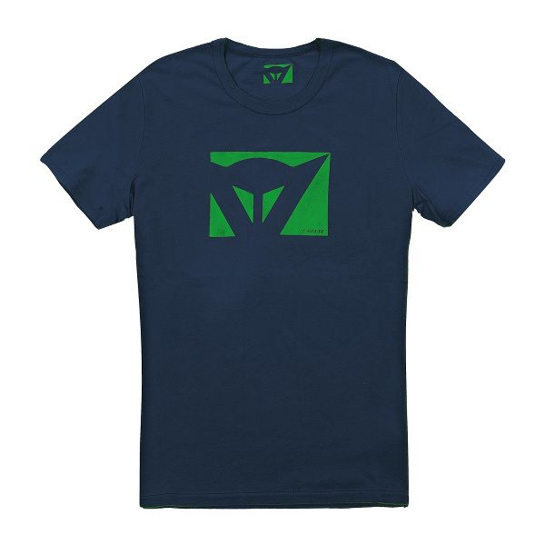 Dainese Color New T-Shirt - Navy/Green Logo