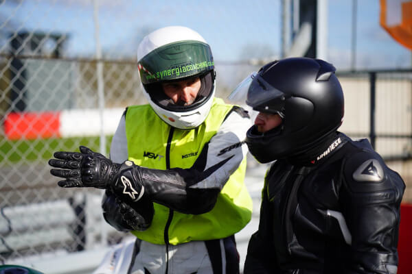 beginners briefing at a track day