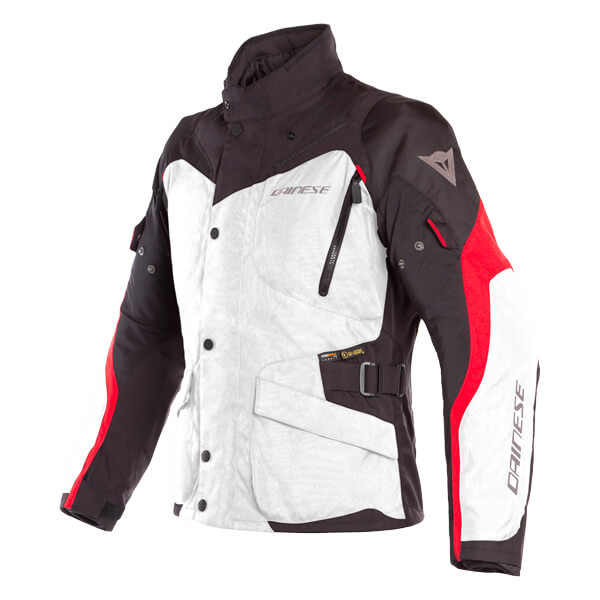 Dainese Tempest 2 D-Dry Jacket - Light Grey/Black/Tour Red