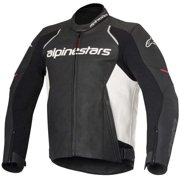 Alpinestars Devon Leather Jacket - Black/White