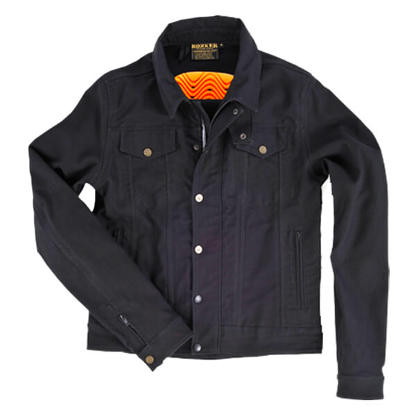 Rokker Black Mens Jacket