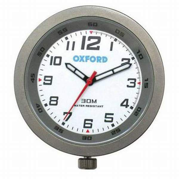 Oxford Analogue Clock - Silver
