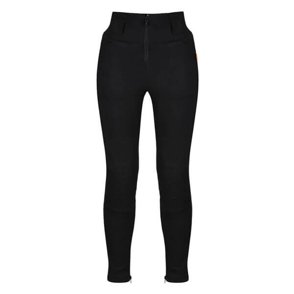 MotoGirl Moto Ribbed Zip Ladies Leggings