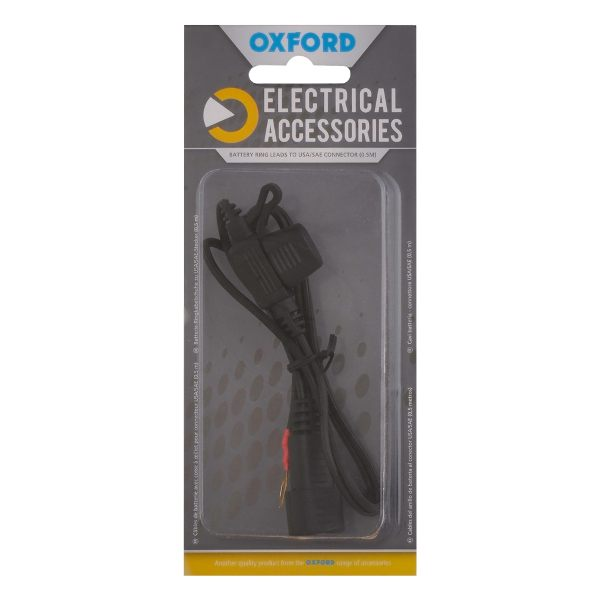 Oxford Battery Ring Leads USA/SAE Connector 0.5m Lead