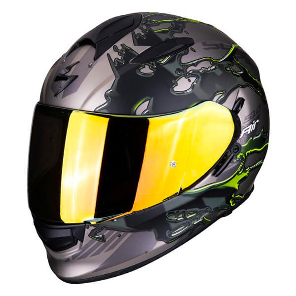 Scorpion EXO 510 - Likid Titanium/Yellow
