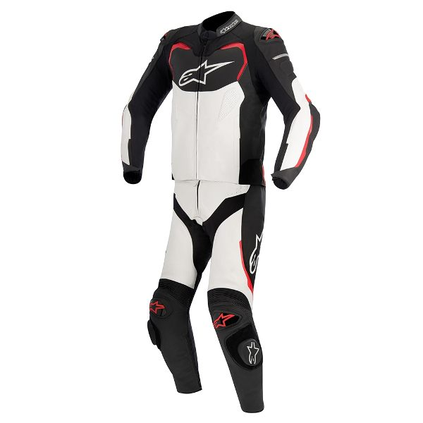 Alpinestars GP Plus 2 Piece Leather Suit - Black/White/Red