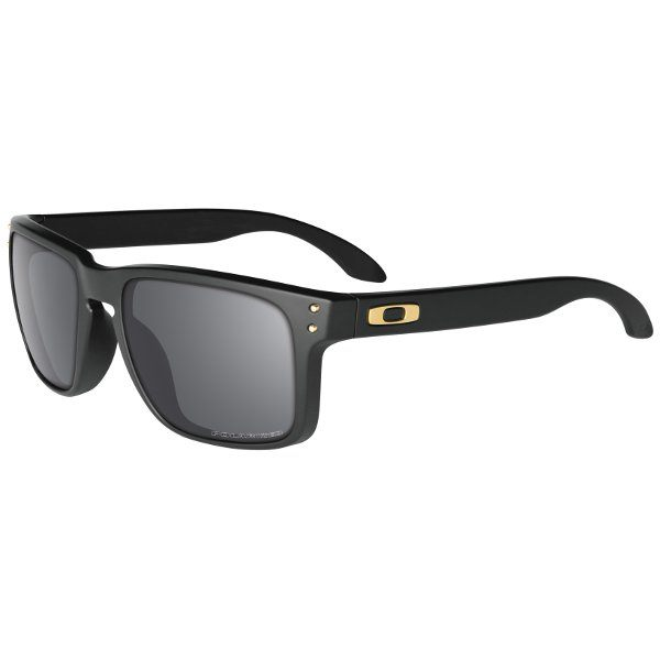 Oakley Holbrook Sunglasses - Black/Grey Polarised