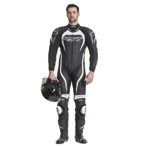 RST Tractech Evo 2 1415 1 Piece Leather Suit - Black/White