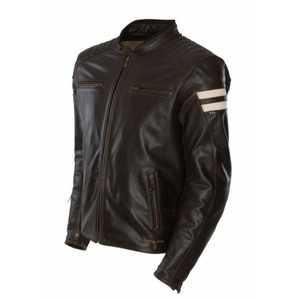 Segura Retro Leather Jacket - Brown