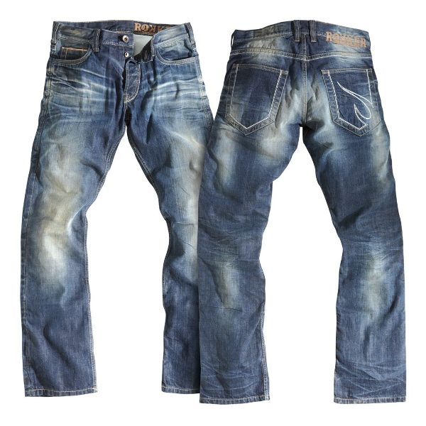 Rokker Rebel Jeans - Stone Washed Blue