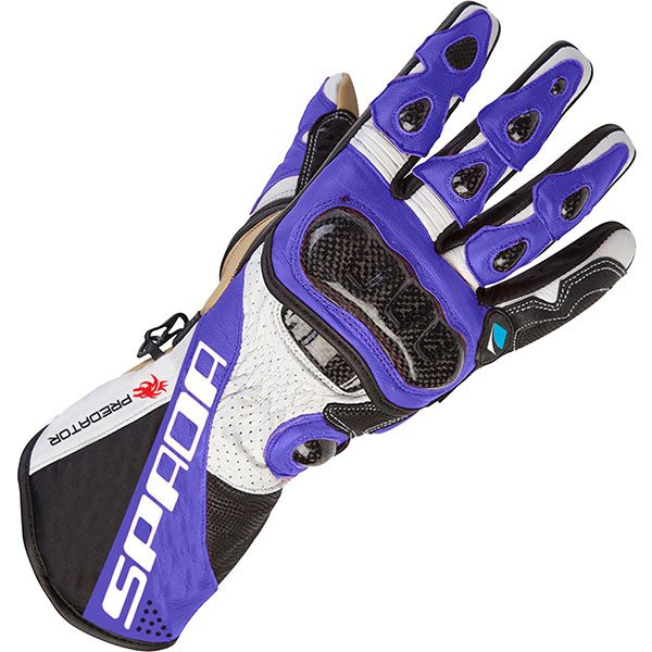 Spada Predator 2 - Leather Gloves Black/Blue
