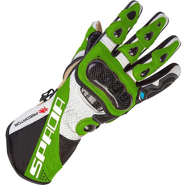 Spada Predator 2 - Leather Gloves Black/Green