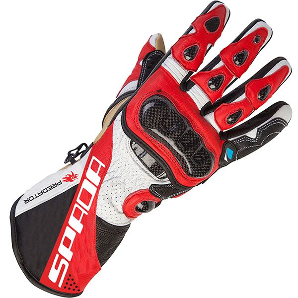 Spada Predator 2 - Leather Gloves Black/Red