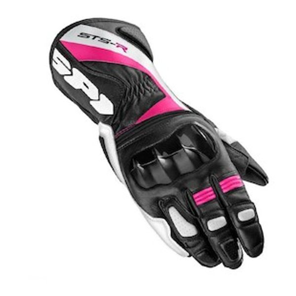 Spidi STS-R Leather Ladies Gloves - Black/Pink