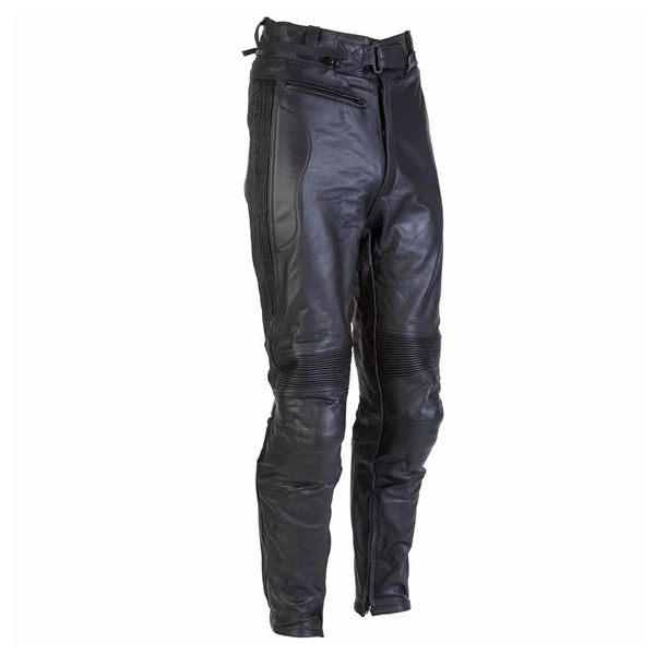 Spada Road Ladies Leather Jeans - Black