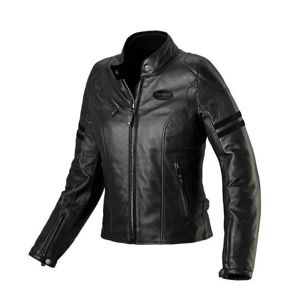 Spidi Ace Ladies Leather Jacket - Black