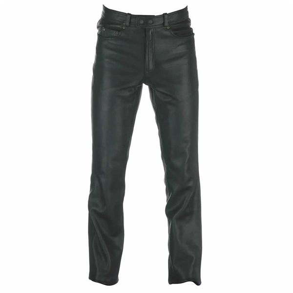 Spada Western Ladies Leather Jeans - Black