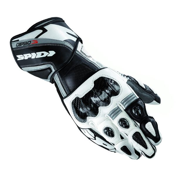 Spidi Carbo 3 Leather Gloves - Black/White