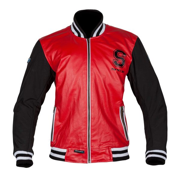Spada Campus Leather Jacket - Red/Black