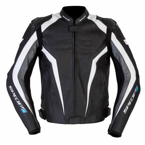 Spada Corsa GP Leather Jacket - Black/White/Anth