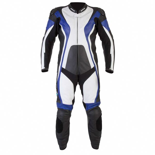 Spada Curve 1 Piece Leather Suit - Black/Blue/White