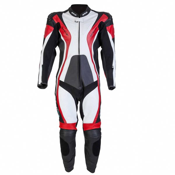Spada Curve 1 Piece Leather Suit - Black/Red/White