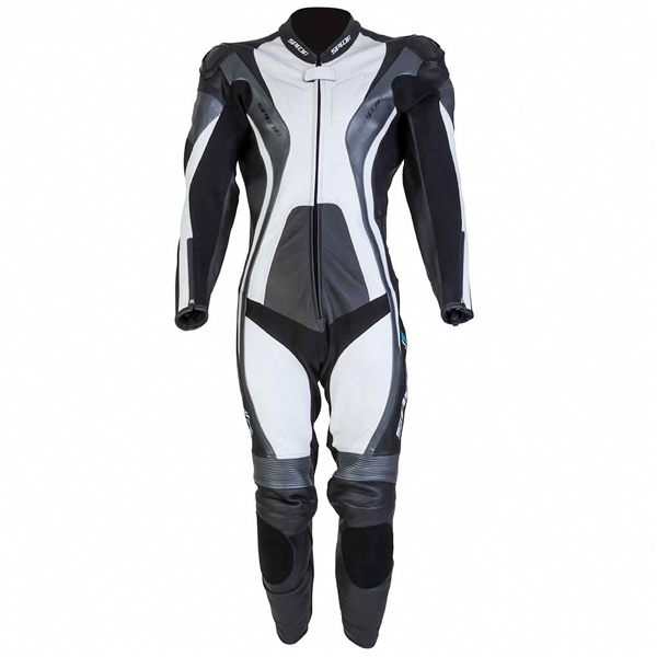 Spada Curve 1 Piece Leather Suit - Black/Grey/White