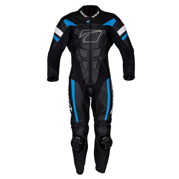 Spada Curve Evo 1 Piece Leather Suit - Black/Blue/White