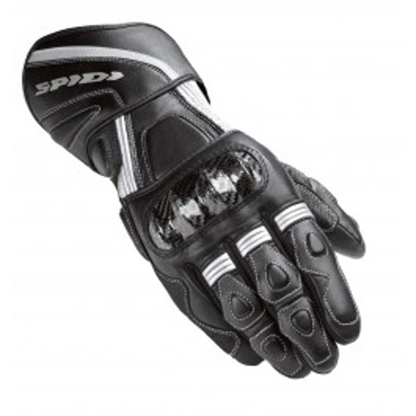 Spidi Carbo Winter Waterproof Leather Gloves - Black/Silver