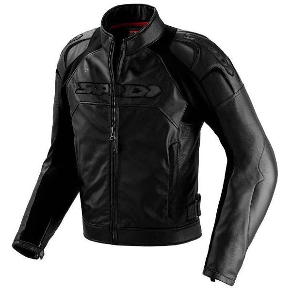 Spidi Dark Night Leather Jacket - Black
