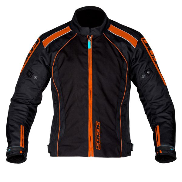 Spada Plaza Waterproof Jacket - Black/KTM - Orange