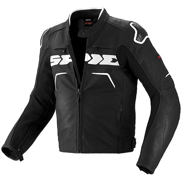 Spidi Evo Rider Leather Jacket - Black/White