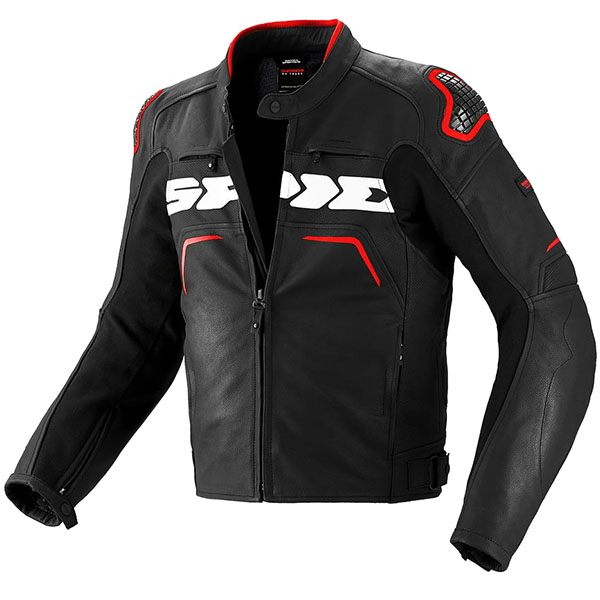 Spidi Evo Rider Leather Jacket - Black/Red