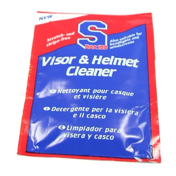 SDOC100 Visor And Helmet Wipes - 10 PACK