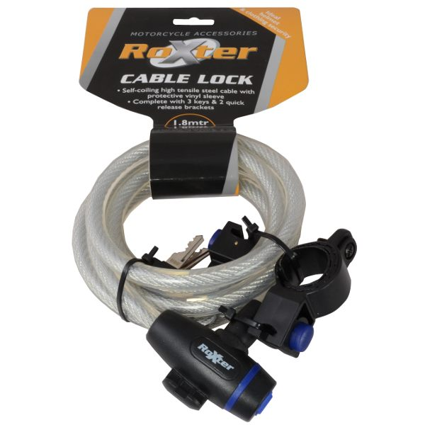 Roxter Cable Lock - Clear