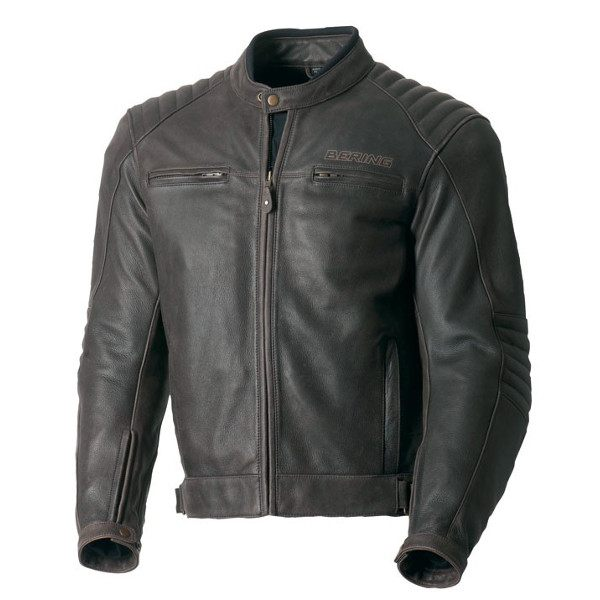 Bering Carter Leather Jacket - Brown