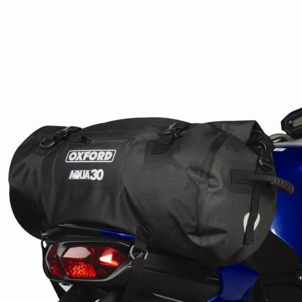 Oxford Aqua 30 Roll Top Bag Black