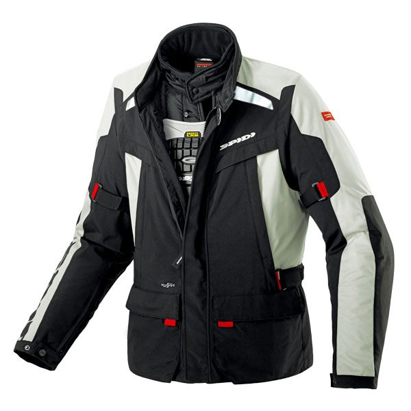 Spidi H2OUT Super Hydro Waterproof Jacket - Black/Ice White