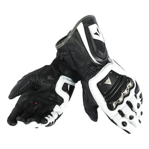 Dainese 4 Stroke Long Gloves - White/Black