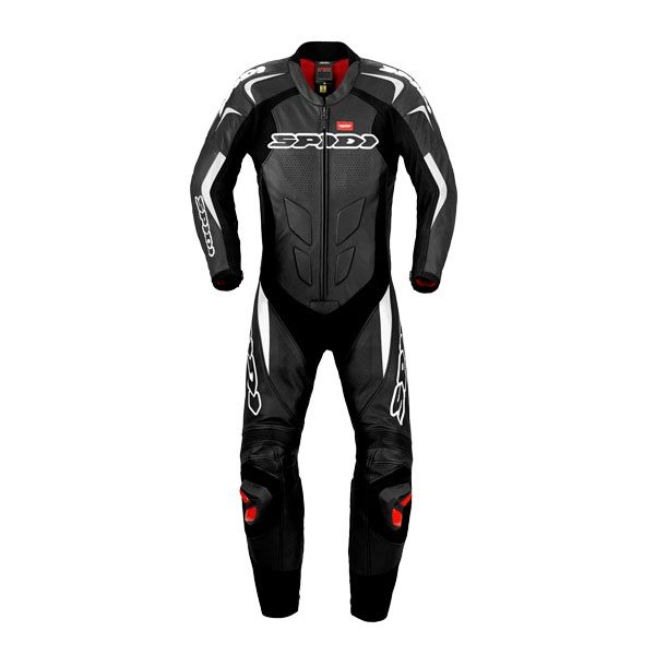 Spidi Supersport Wind Leather Suit - Black/White