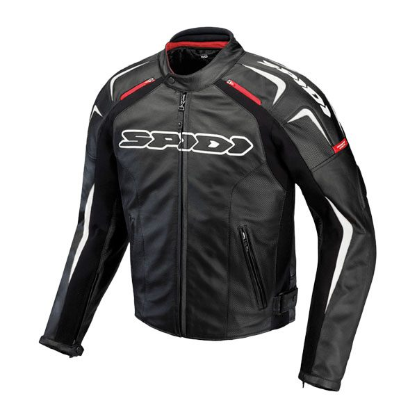 Spidi Track Leather Jacket - Black/White